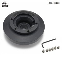 Steering Wheel Short Hub Adapter Boss Kit Aluminum Black For BMW E46 M3 and All E90 HUB-KE46H