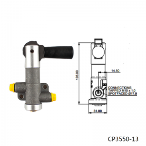 Single Bore - CP3550-13 Lever type brake proportioning valve with 7 settings With Ap Logo CP3550-13