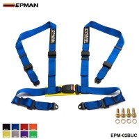 "EPMAN -2""Racing Seat Belt Buckle 4Pt 4 Point Nylon Strap Safety Harness Universal EPM-02BUC"