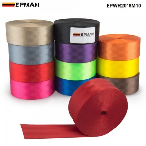 EPMAN Universal L:10M Seat Belt Clip Car Safety Seatbelts Clips Fasteners Buckle Stop Buttons EPWR2018M10