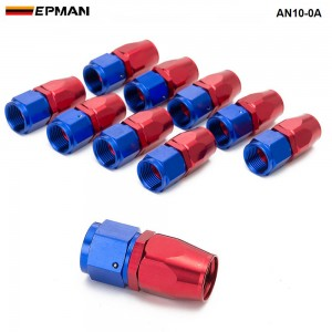 10PCS/LOT 0 degree ( Straight) AN10 Hose End Fitting Aluminum oil cooler hose fitting AN10-0A