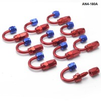 10PCS/LOT Degree Fuel Oil Fitting Aluminum Oil Cooler Hose End Adaptor Universal AN4-180A