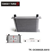 Universal 25-Row Engine/Transmission 10-AN Oil Cooler TK-OC000025-AN10