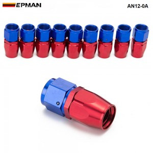 10PCS/LOT  0 degree ( Straight) AN12 Hose End Fitting Aluminum oil cooler hose fitting  AN12-0A