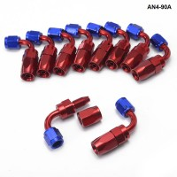 10PCS/LOT 90Degree High Performance AN4 Hose End Fitting Aluminum Oil cooler hose fitting AN4-90A