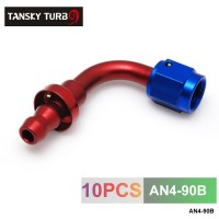 TANSKY - 4AN AN4 4-AN 90 Degree SWIVEL OIL/FUEL/GAS LINE HOSE END PUSH-ON MALE FITTING AN4-90B
