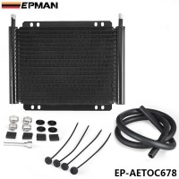 EPMAN Racing Car Aluminum Series 8000 Plate & Fin 19 Row Transmission Cooler Kit EP-AETOC678
