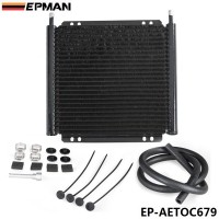 EPMAN Racing Car Aluminum Series 8000 Plate & Fin 24 Row Transmission Cooler Kit EP-AETOC679