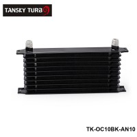 Tansky - BLACK UNIVERSAL 10 ROW AN-10AN ENGINE TRANSMISSION RACING OIL COOLER BRITISH TK-OC10BK-AN10