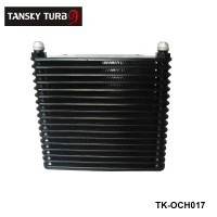TANSKY NEW DESIGN UNIVERSAL AN10 17 ROW 32MM ALLOY RACE DRAG DRIFT BLACK OIL COOLER TK-OCH017