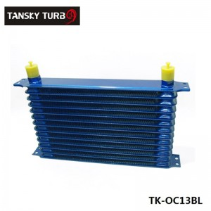 13rows 50mm thick aluminium universal TRUST DESIGN engine or gearbox oil cooler TK-OC13BL