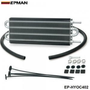 EPMAN - 4 Row Heavy Duty Tube&Fin Transmission Cooler -6 AN In/Out EP-HYOC402