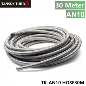TANSKY - Stainless Steel Braided AN10 10k-PSI Oil/Fuel Hose/Line ID 7/16