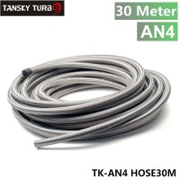 TANSKY - 4AN AN 4 Stainless Steel Braided Racing Hose Fuel Oil Line x 30Meter TK-AN4 HOSE30M