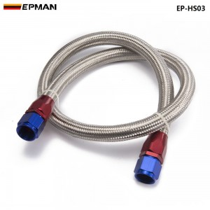2013 AN8-0 Universal fuel / Oil hose Kit Stainless Steel Braided hose 1meter w/ fitting EP-HS03