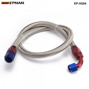 AN8-0A / AN8-90A Universal fuel / Oil hose Kit Stainless Steel Braided hose 1meter w/ fitting EP-HS04