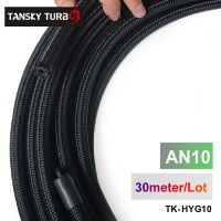 Tansky - 2013 very high quality AN10 Cotton Over Braided Fuel / Oil Hose Pipe Tubing, Light Weight, 30 Meters Roll TK-HYG10