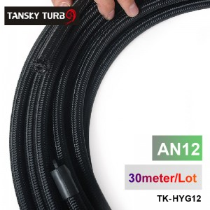 Tansky - 2013 very high quality - AN12 Cotton Over Braided Fuel / Oil Hose Pipe Tubing Light Weight, 30 Meters Roll TK-HYG12