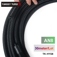 Tansky - 2013 very high quality AN8 Cotton Over Braided Fuel / Oil Hose Pipe Tubing, Light Weight, 30 Meters Roll TK-HYG8