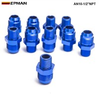 10pcl/unit Oil cooler fitting blue,H Q AN10-1/2''NPT