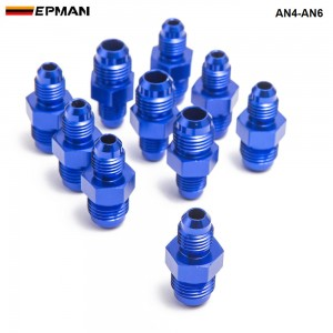 10pcl/unit HOSE END FITTING / Oil cooler fitting fitting for braided stainless steel hose (blue,H Q) AN4-AN6