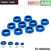 TANSKY - AN -6 AN6 JIC BULKHEAD HEX NUT Fuel Oil Hose Fitting Adapter TK-MMAN6
