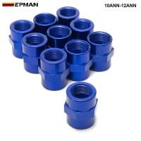 EPMAN -10PCS/LOT Fitting Flare Reducer Female -12 AN to Female -10 Blue Flare Reducers Alloy Fitting 10ANN-12ANN