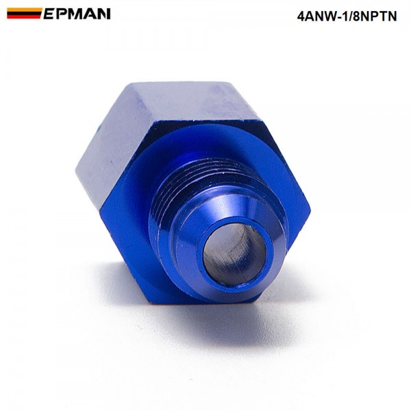EPMAN-10PCS/LOT  Fitting Flare Reducer Female -1/8NPT to Male -4AN Blue Oil/Fuel Alloy Fitting 4ANW-1/8NPTN
