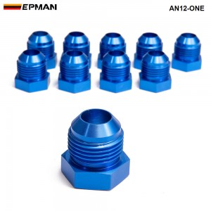 10pcl/unit Oil cooler fitting (blue H Q) AN12-ONE