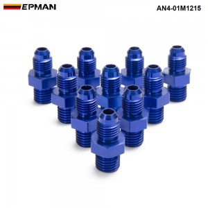 EPMAN - 10PCS/LOT AN4 To M12*1.5 Straight Male Oil Cooler Fuel Oil Hose Fitting Adapter AN4-01M1215