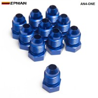 10PCS/LOT  Oil cooler fitting (BLUE,H Q) AN4-ONE