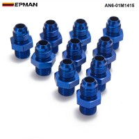 EPMAN -10PCS/LOT AN6 -M14*1.5 Straight Male Oil Cooler Fuel Oil Hose Fitting Adapter AN6-01M1415
