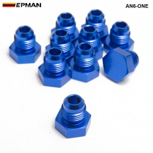 10pcl/unit Oil cooler fitting (blue H Q) AN6-ONE