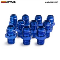 EPMAN -10PCS/LOT AN8 - M16*1.5 Straight Male Oil Cooler Fuel Oil Hose Fitting Adapter AN8-01M1615