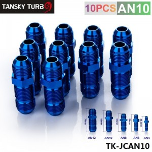 TANSKY - AN-10 to AN-10 FlARE BULKHEAD STRAIGHT MALE FUEL OIL HOSE FITTING ADAPTER TK-JCAN10
