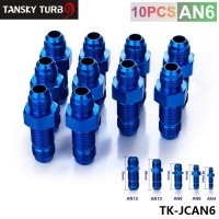 TANSKY - AN -6 AN6 Flare BULKHEAD STRAIGHT MALE Fuel Oil Hose Fitting Adapter TK-JCAN6