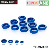 TANSKY - 8AN AN8 AN-8 HEX NUT For Male Union Flare Bulkhead Fitting Adapter TK-MMAN8