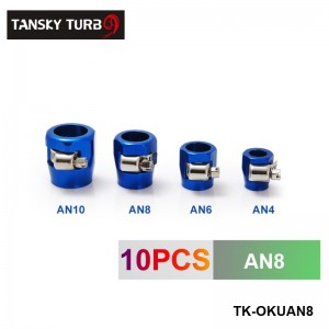 TANSKY - AN8 Fuel Oil Water Tube Hose Fittings Finisher Clamps 18mm TK-OKUAN8