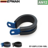 10PCS/LOT Aluminum Rubber Lined Cushioned P Clamp ID 25.4mm AN12 SS Hose EP-GBPLCC90-16