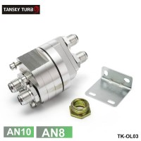 TANSKY - Universal Oil Filter Cooler Sandwich Plate Adapter silver ( FITTING(AN8,AN10))TK-OL03