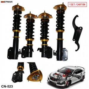 Tansky Coilovers Spring Struts Racing Suspension Coilover Kit Shock Absorber For 02-07 Subaru WRX /2004 Sti ONLY CN-523