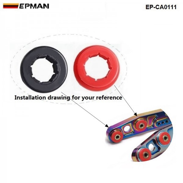 12pcl/unit Lower Control Arm Rear Camber Kit Replacement Bushings (Red/Black) EP-CA0111