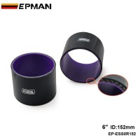 EPMAN ID 152mm (6 inch) Straight Silicone Coupler Hose Intercooler Joiner Pipe EP-ESS0R152