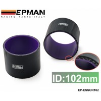 "EPMAN 4"" 102mm 3-Ply Silicone Intercooler Turbo Intake Pipe Coupler Hose BLACK EP-ESS0R102"