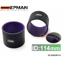 "EPMAN 4.48""114mm 3-Ply Silicone Intercooler Turbo Intake Pipe Coupler Hose BLACK EP-ESS0R114"