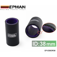 "EPMAN 1.5"" 38mm 3-Ply Silicone Intercooler Turbo Intake Pipe Coupler Hose BLACK EP-ESS0R38"