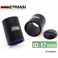 "EPMAN 2.25"" 57mm 3-Ply Silicone Intercooler Turbo Intake Pipe Coupler Hose BLACK EP-ESS0R57"