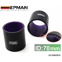 "EPMAN 2.75"" 70mm 3-Ply Silicone Intercooler Turbo Intake Pipe Coupler Hose BLACK EP-ESS0R70"